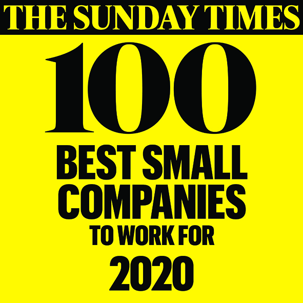 The Sunday Times 100 Best Small Companies to work for 2020